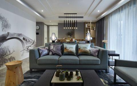 混搭中式风格四居室装修案例图