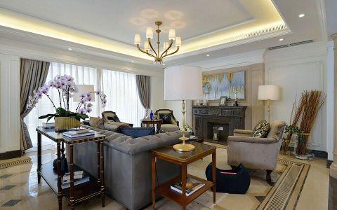 美式风格四居室户型装修样板房