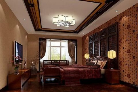 云裳丽影中式古典风格三居室装修效果图