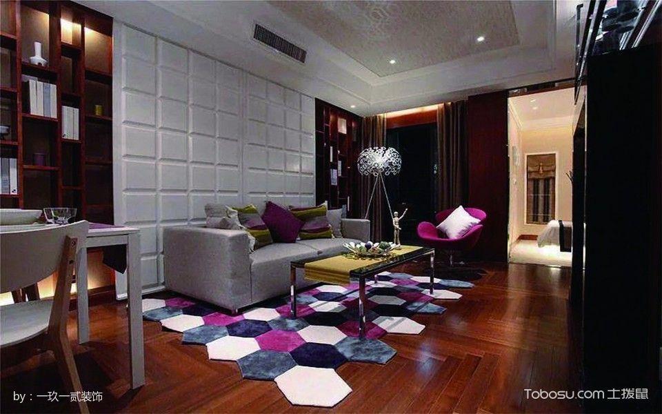 简约一室一厅双方案客厅装修设计