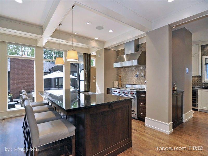 厨房彩色吊顶现代风格效果图