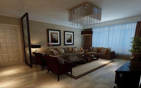 现代简约四居室装修样板间效果图