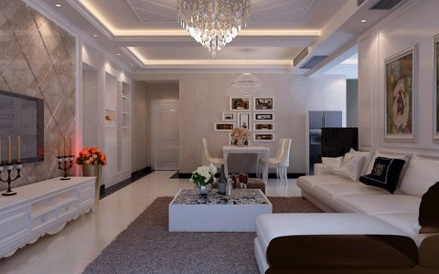 现代简约风格两居室设计装修图