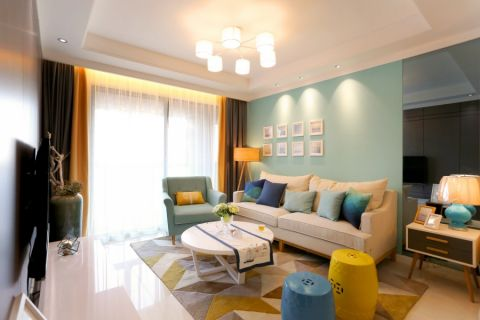 混搭简约多彩两居室装修效果图