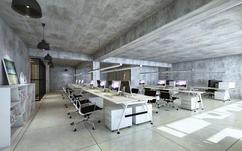 工业风办公室工装装修效果图