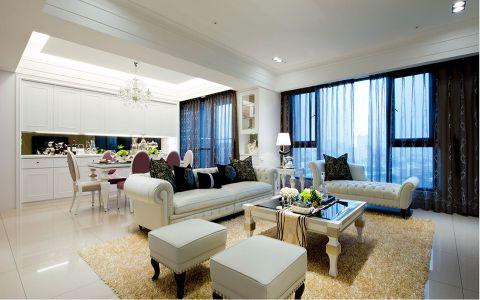 风格尚品现代欧式风格四居室装修效果图