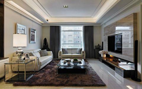 现代风格三居室装修样板图