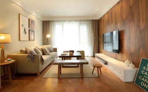 简约风格木质温馨三居室装修图