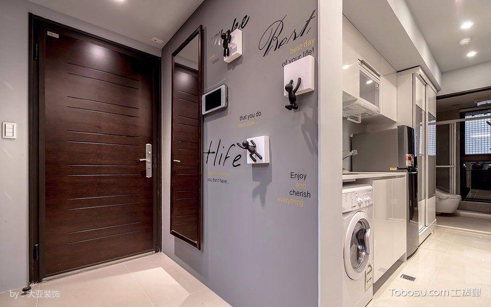 玄关灰色背景墙混搭风格装饰效果图