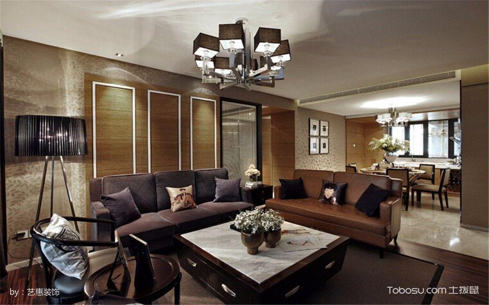 中海雍城世家120平现代混搭风格三居室装修