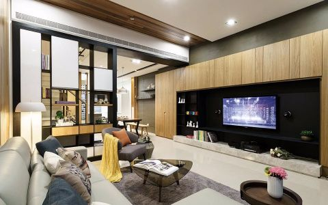 2021简约150平米效果图 2021简约别墅装饰设计
