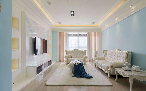 现代欧式精装三居室案例图片