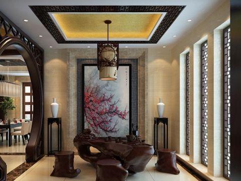 中式风格别墅家装案例效果图