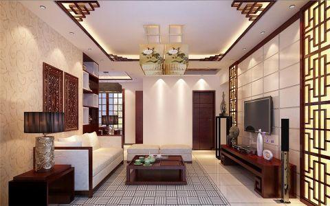 两居室新中式风格装修效果图
