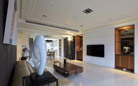 现代混搭风格大户型三居室装修图