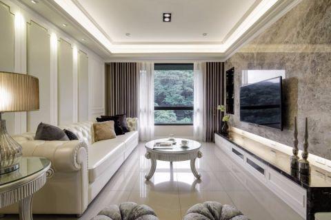 新古典现代风格三居室装修效果图