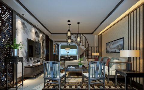 丰乐公寓新中式跃层装修效果图