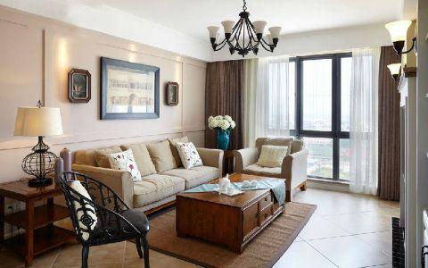 最纯美式风情四居室装修效果图