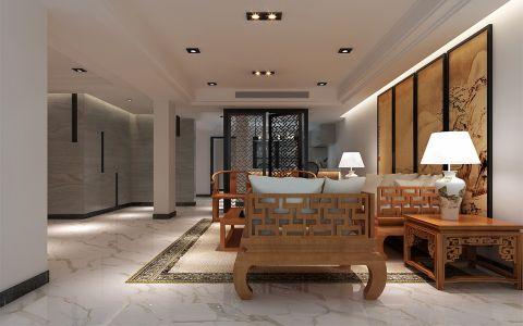 今日星辰现代中式别墅风格装修案例图