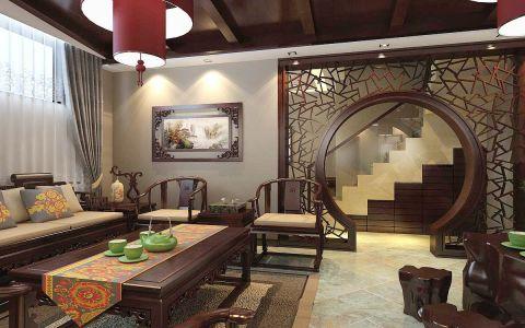 中式风情别墅设计装修效果图
