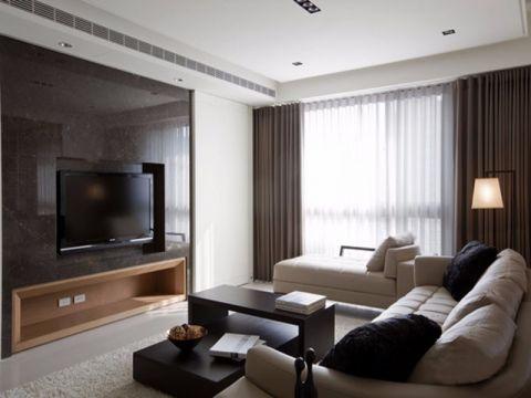 2018简约120平米装修效果图片 2018简约三居室装修设计图片