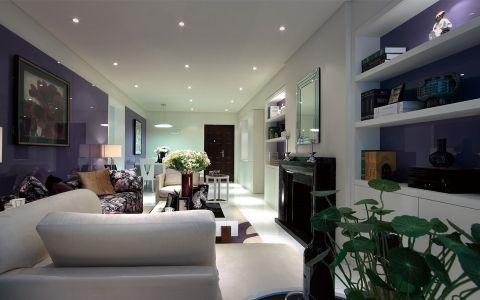现代简约风格白紫搭配设计
