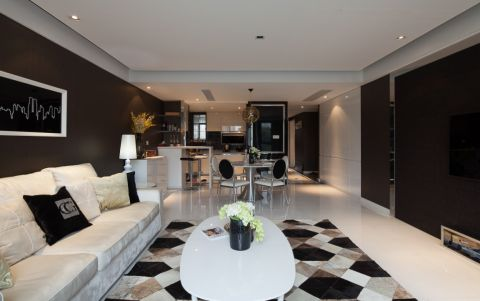 现代简欧风格三居室设计案例