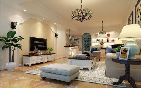 绿地玫瑰城美式田园三居室设计
