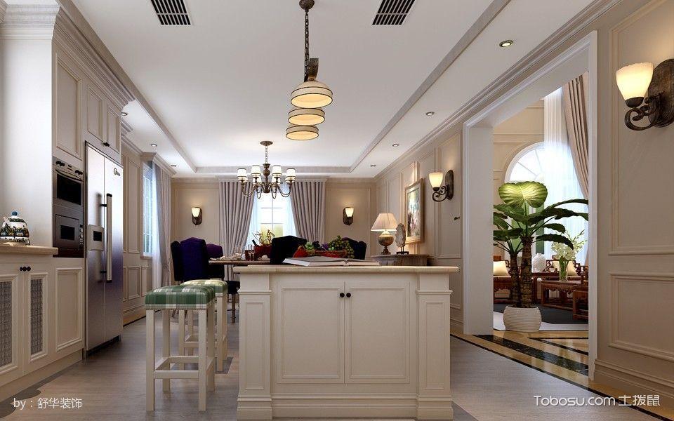 厨房白色吊顶欧式风格装饰效果图