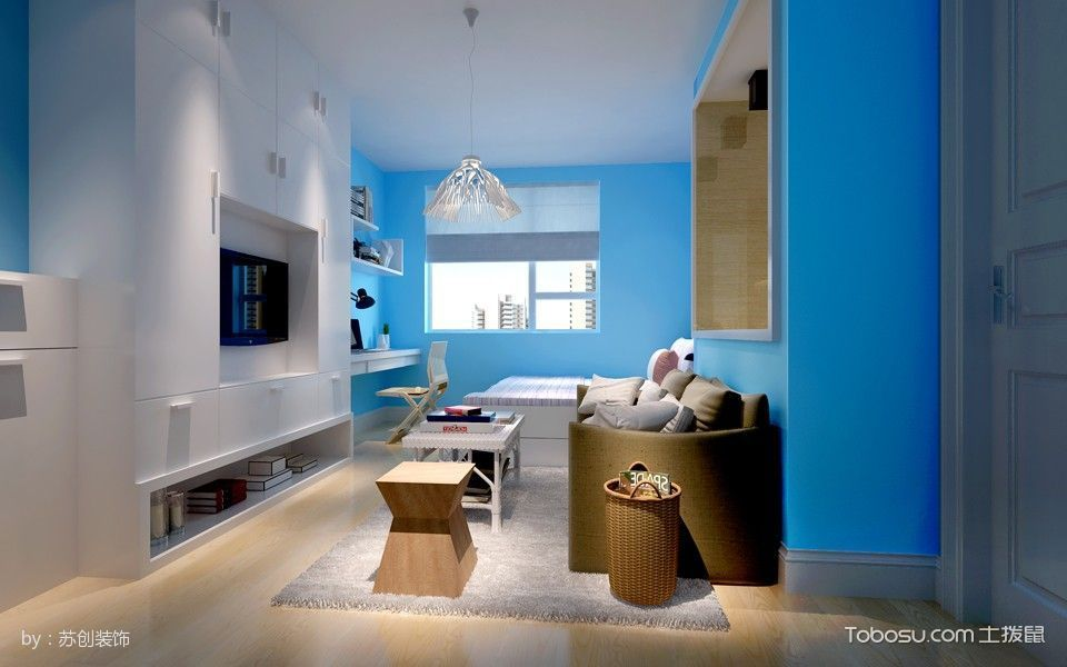 小户型简约一居室装修案例图
