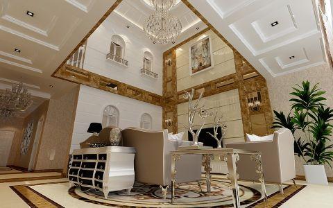 现代欧式风格复式别墅装修效果图