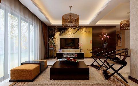第四干休所四室两厅中式风格装修效果