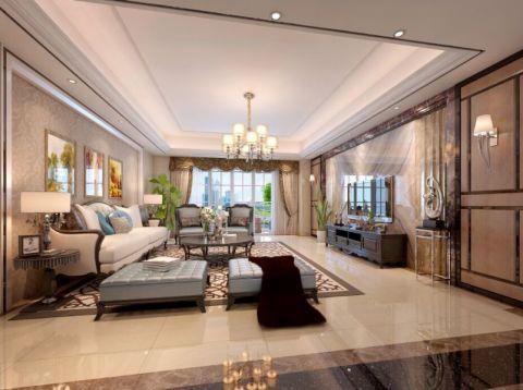 中信华庭简欧风格大户型家居装修效果图