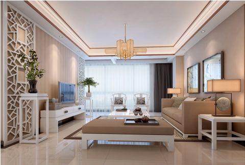 星海华庭新中式风格二居室装修效果图