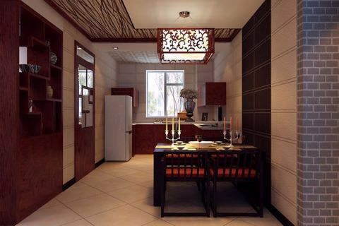 100平现代中式风格设计