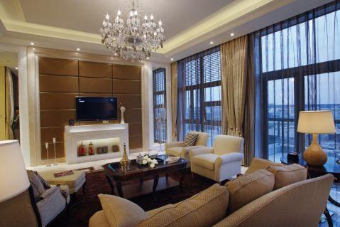 现代欧式大户型公寓设计效果图