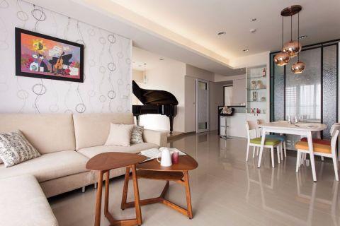 简单式混搭三居室装修设计