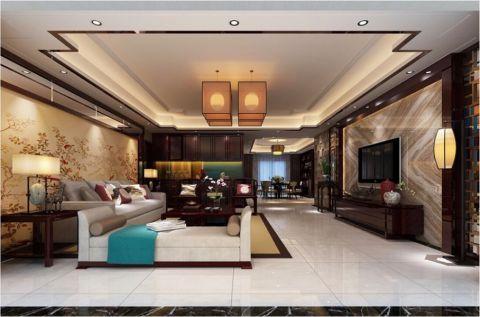 星湖城中式风格套房装修设计