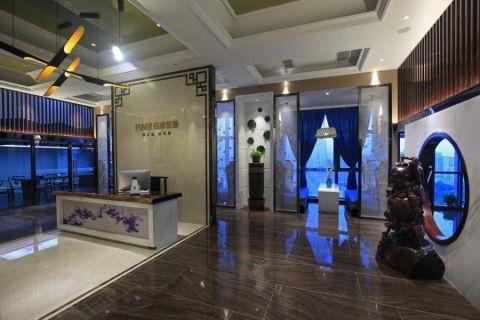 蓝韵中国风办公室装修设计图片