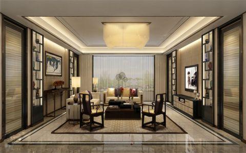琥珀五环城和雅阁中式风格大户型装修设计