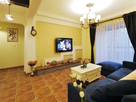 阳光尚线地中海风格三居室装修效果图