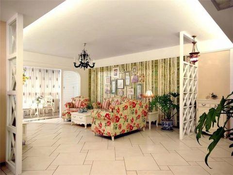奥林匹克花园田园风格两居室装修效果图
