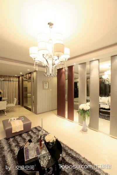 简约古典风格两居室装修案例图