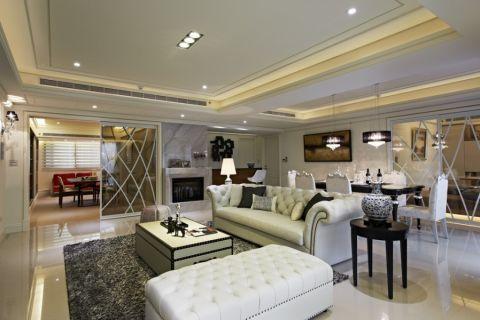 现代古典风格两居室装修实景图