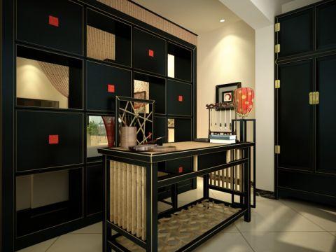 新中式一居室设计案例图