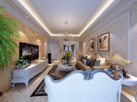 现代欧式风格三居室样板图