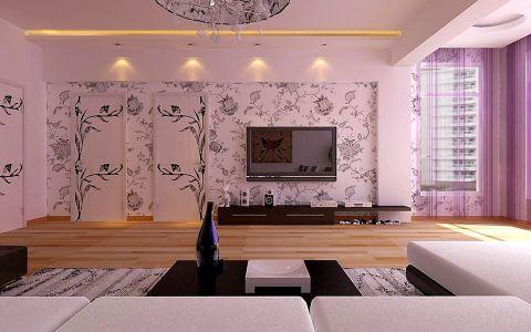 客厅隐形门现代简约风格装修设计图片