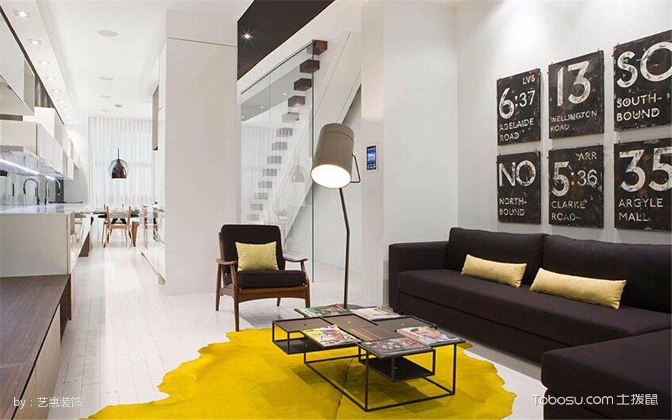 惊艳黄色单身公寓装修设计效果图