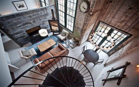 客厅沙发后现代风格装修设计图片
