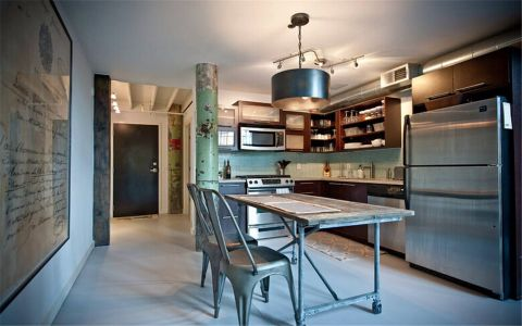 厨房厨房岛台后现代风格装潢设计图片